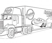 Coloriage Camion Flash Mcqueen