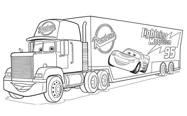 Coloriage Camion Flash Mcqueen Dessin Gratuit à Imprimer