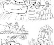 Coloriage et dessins gratuit Cars Flash Mcqueen 10 à imprimer