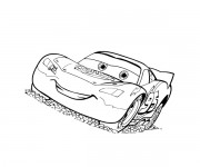 Coloriage et dessins gratuit Cars Flash Mcqueen 14 à imprimer