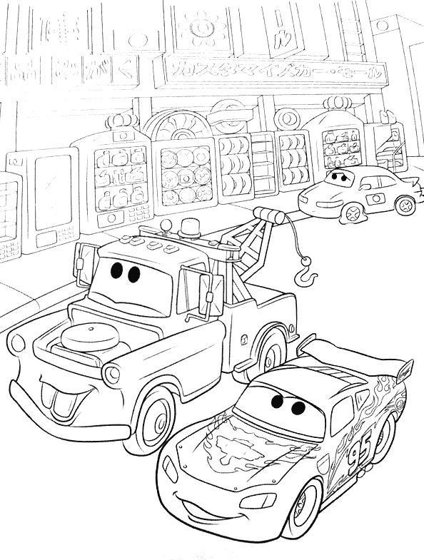 Coloriage cars flash mcqueen 27 dessin gratuit imprimer - Coloriage cars flash mcqueen ...
