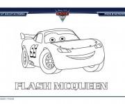 Coloriage et dessins gratuit Cars Flash Mcqueen 3 à imprimer