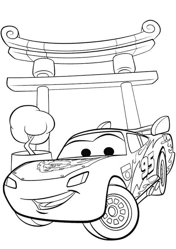 coloriage cars flash mcqueen au japon dessin gratuit imprimer. Black Bedroom Furniture Sets. Home Design Ideas