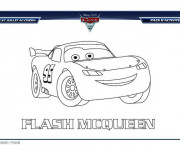 Coloriage Cars Flash Mcqueen en Ligne