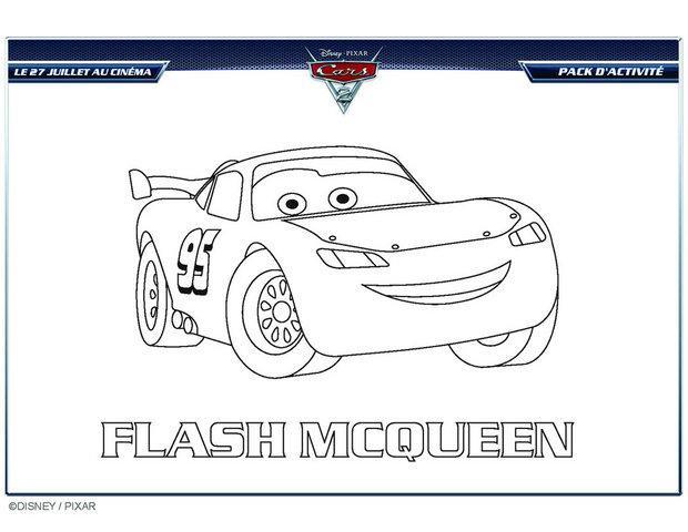 Coloriage cars flash mcqueen en ligne dessin gratuit - Coloriage de cars gratuit ...