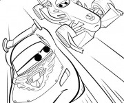 Coloriage Cars Flash Mcqueen et Formula 1