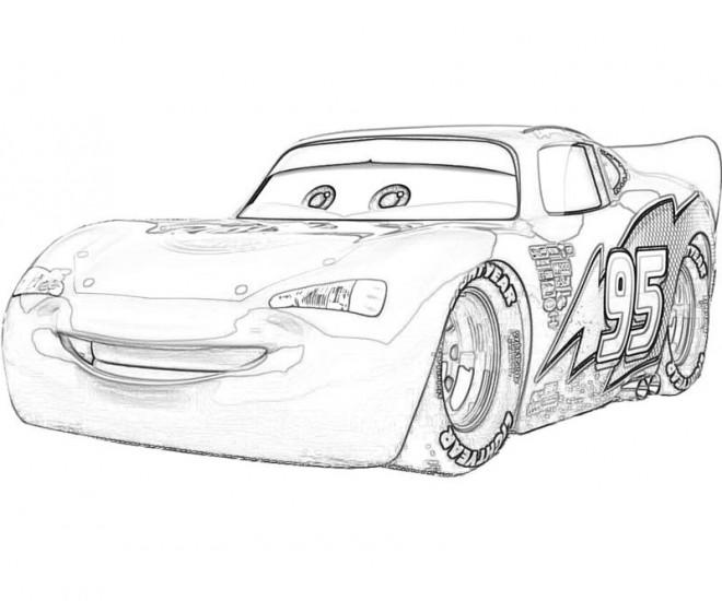 Coloriage et dessins gratuits Cars Flash Mcqueen stylisé à imprimer