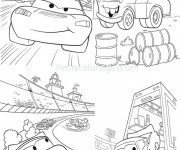 Coloriage Cars Martin et Flash Mcqueen