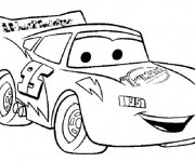 Coloriage Flash Mcqueen souriant