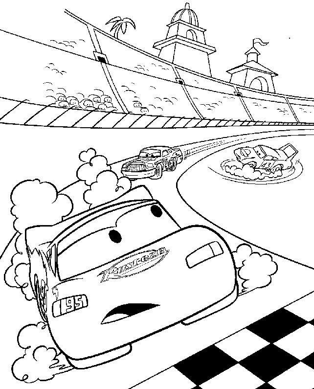 Coloriage et dessins gratuits Flash Mcqueen voiture de course à imprimer