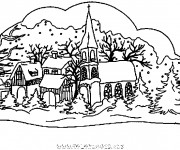 Coloriage dessin  Chalet 10