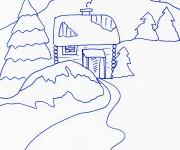 Coloriage dessin  Chalet 16