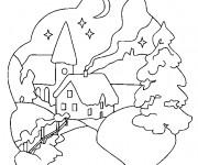 Coloriage dessin  Chalet 20