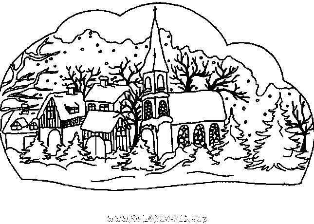 Coloriage et dessins gratuits Chalet en couleur à imprimer