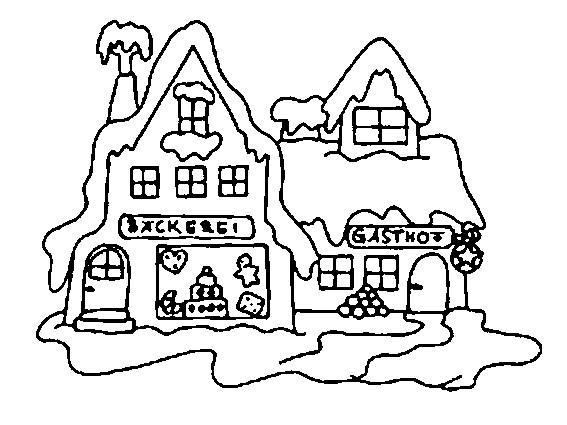 Coloriage chalet enneig dessin gratuit imprimer for Disegni case moderne