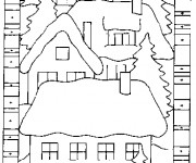 Coloriage Chalet facile