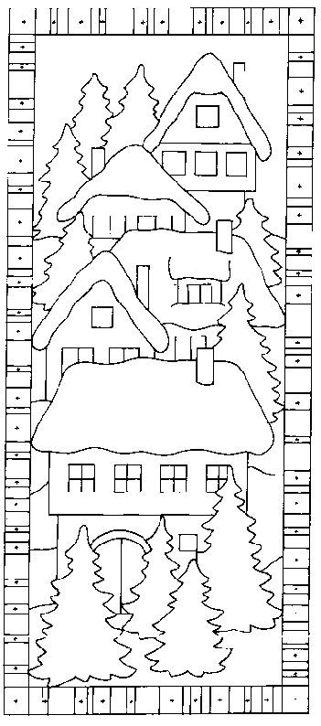 Coloriage et dessins gratuits Chalet facile à imprimer