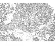 Coloriage et dessins gratuit Chalet réaliste à imprimer