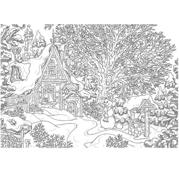 Coloriage et dessins gratuits Chalet réaliste à imprimer