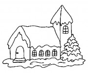 Coloriage Chalet simple