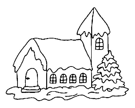 Coloriage et dessins gratuits Chalet simple à imprimer