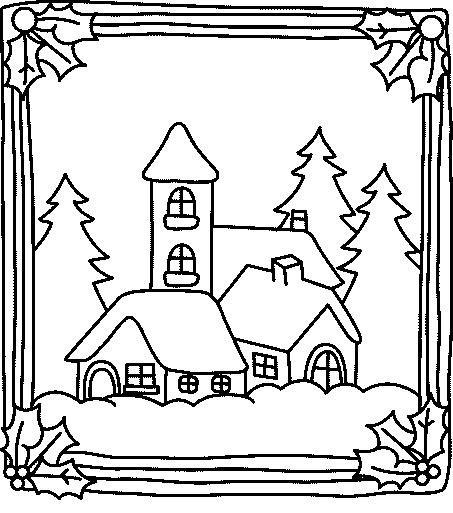 Coloriage et dessins gratuits Paysage de Chalet pour enfant à imprimer