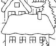 Coloriage et dessins gratuit Un Chalet en bois maternelle à imprimer