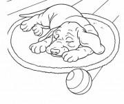 Coloriage et dessins gratuit Chien en dormant à imprimer
