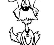 Coloriage et dessins gratuit Chien humoristique à imprimer