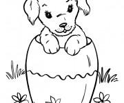Coloriage et dessins gratuit Chiot adorable à imprimer
