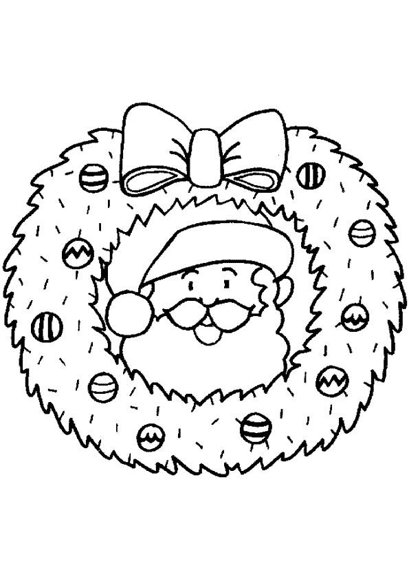 Coloriage Couronne De Noel.Coloriage Couronne De Noel à Colorier Dessin Gratuit à Imprimer