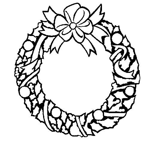 Coloriage et dessins gratuits Couronne de Noel à fabriquer avec des feuilles à imprimer