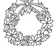 Coloriage et dessins gratuit Couronne de Noel à télécharger à imprimer