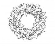 Coloriage et dessins gratuit Couronne de Noel de L'avant à imprimer