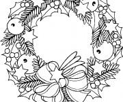 Coloriage et dessins gratuit Couronne de Noel des rois à imprimer