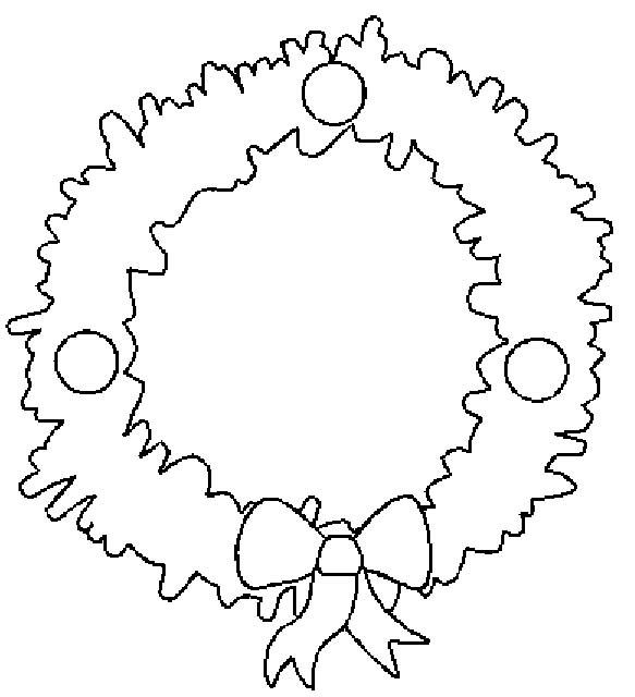 Coloriage et dessins gratuits Couronne de Noel en sapin artificiel à imprimer
