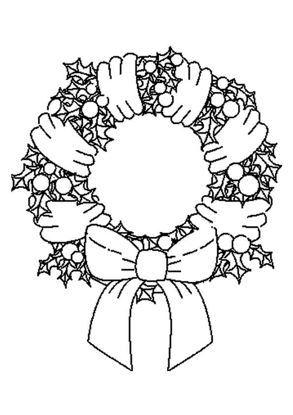 Coloriage Couronne De Noel Maternelle Dessin Gratuit à Imprimer