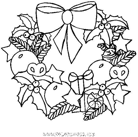 Coloriage Couronne De Noel Pour Enfant Dessin Gratuit à Imprimer