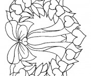 Coloriage Couronne de Noel simple