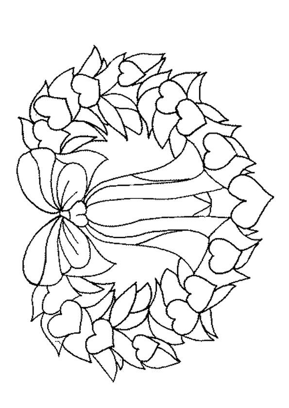 Coloriage et dessins gratuits Couronne de Noel simple à imprimer