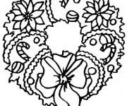 Coloriage et dessins gratuit Couronne de Noel stylisé à imprimer