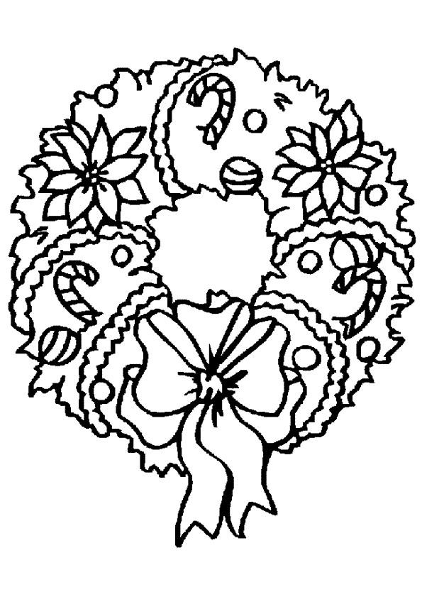 Coloriage et dessins gratuits Couronne de Noel stylisé à imprimer