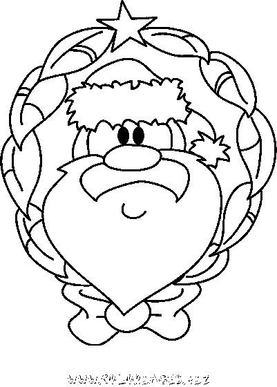 Coloriage et dessins gratuits Couronne en Noel à imprimer