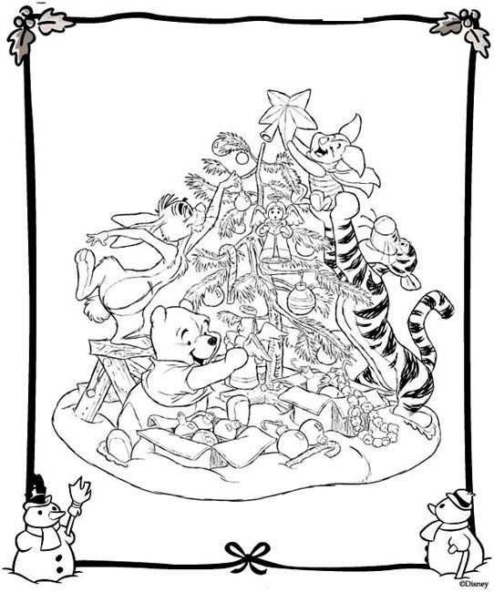 Coloriage Disney Noel A Telecharger