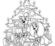 Coloriage et dessins gratuit Disney Noel pour enfant à imprimer