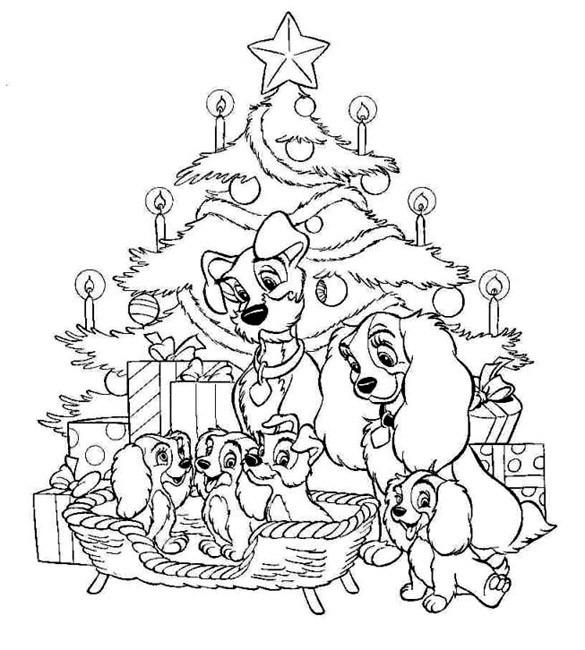 Coloriage Disney Noel Pour Enfant Dessin Gratuit à Imprimer