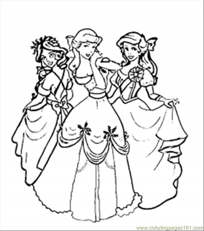 Coloriage et dessins gratuits Disney Princesses à imprimer