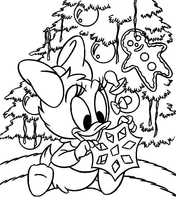 Coloriage Le Sapin de Noel de Disney dessin gratuit à imprimer