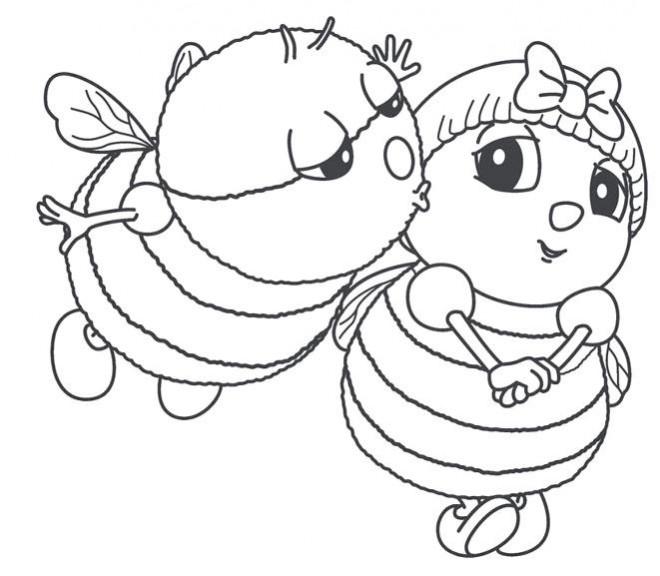 Coloriage abeilles amoureux dessin gratuit imprimer - Coloriage drole a imprimer ...