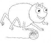 Coloriage et dessins gratuit Araignée humoristique à imprimer